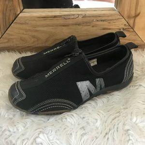 Merrell Shoes - Merrell Barrado Black Performance Slip On Shoes 8